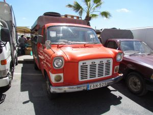 Colourful old truck at Marsaxlokk market