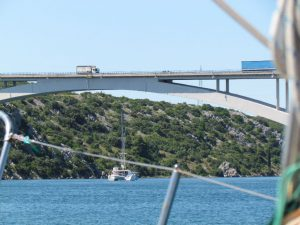 Approaching the first bridge