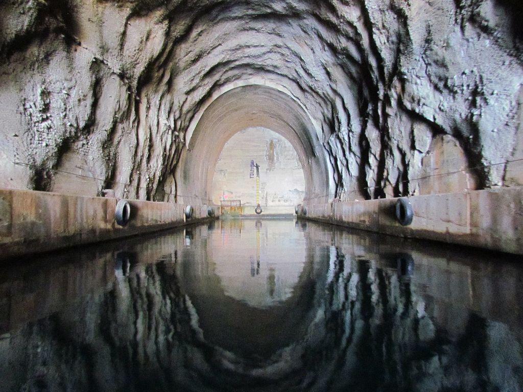 Inside the submarine pen