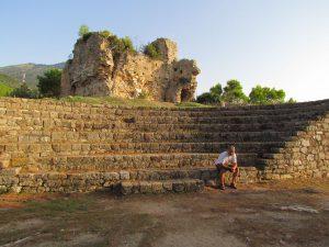 Colin enjoying the ruins of the Kiparissa castle