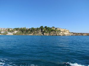 All we got to see of the fort at Koroni as we ran away once again