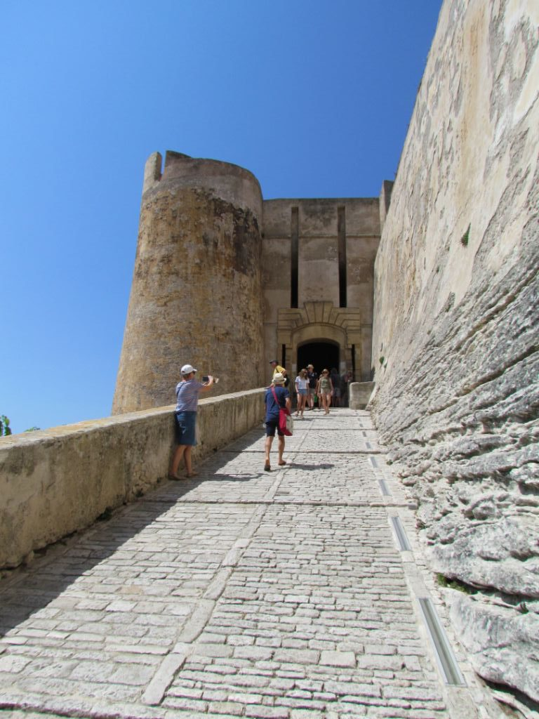 Up to the gatehouse at Bonifacio
