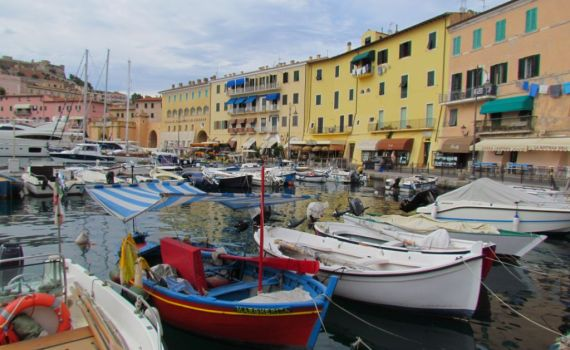 Fishing boats at Portoferraio