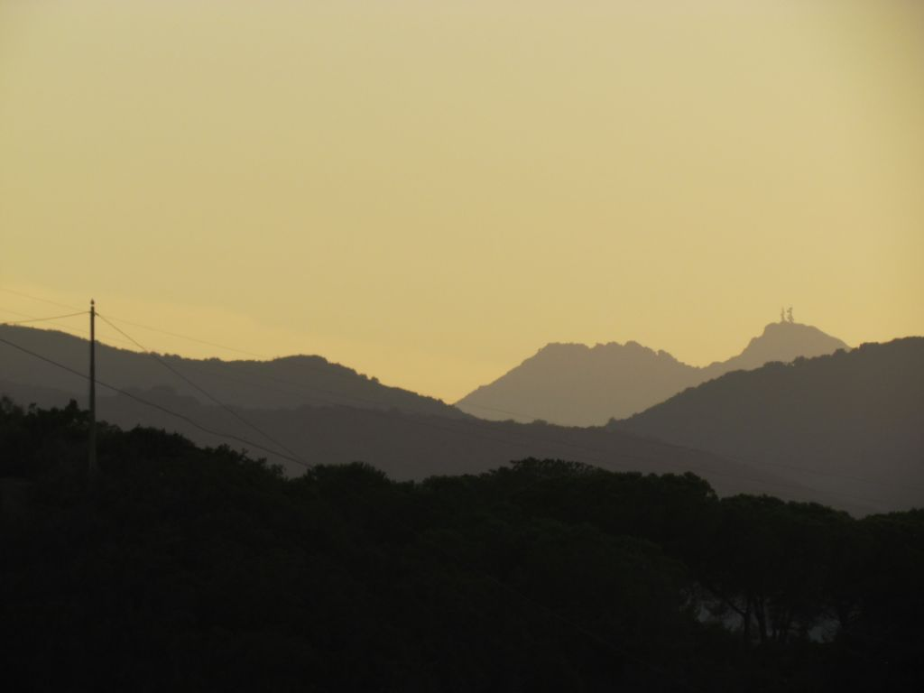 The towers on Monte Capanne can be seen from many parts of the island