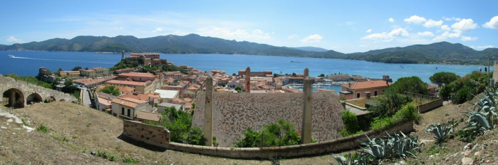 The view east from Portoferraio