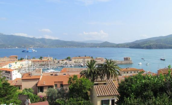 Looking over Portoferraio harbour