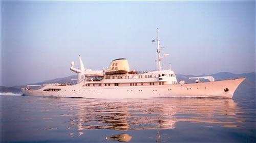 CHRISTINA O Mega Motor Yacht Charter Greece Greek Islands
