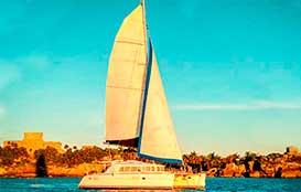 vYacht rentals in Cancun, large group catamran rental, puerto aventuras-lagoon-44