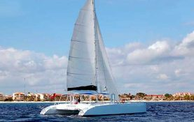 Yacht Rentals in Cancun, Luxury, Puerto Aventuras, Catamaran 46 feet, private Charter, Snorkel Tour