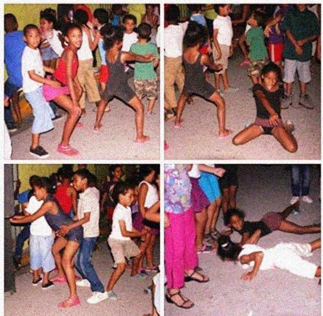 Esta foto de niños dominicanos fue divulgada en Internet como si fuesen niños cubanos bailando temas de adultos en Cuba hace unos años. El fraude denunciado a su tiempo por un blog, fue el inicio de la campaña que ya finalmente ha logrado vídeos autenticos hechos por los propios padres a sus hijos en Cuba.