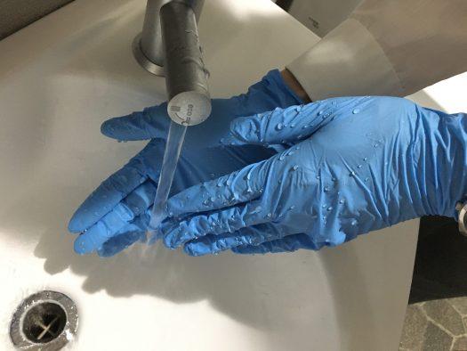 こまめな手洗いを実施しております
