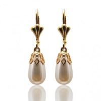 Baroque Pearl Drop Earrings Gold - Vintage Pearl Earrings ...