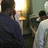 قائد التحالف العربي بعدن يزور الجرحى في مستشفى الجمهورية