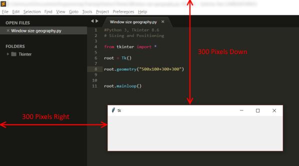 tkinte rWindow Position - Python 3 in Windows 10