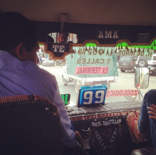 En el bus SantaCruz Bolivia