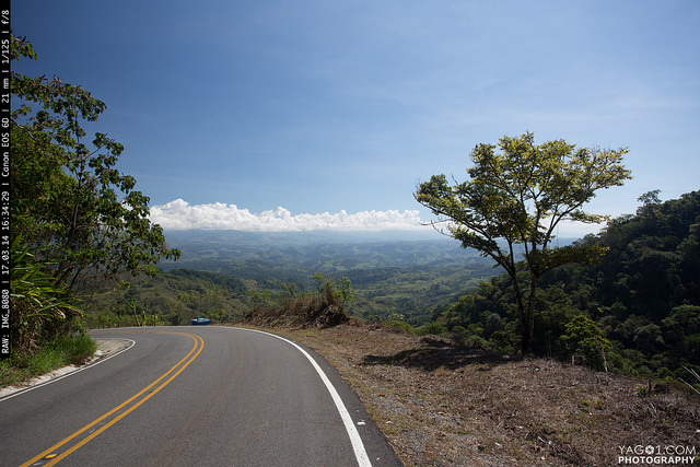 On the road in Costa Rica
