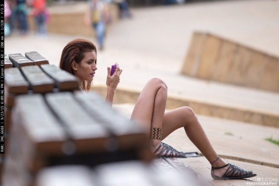 Candid Street Girl Capture in Medellin Colombia