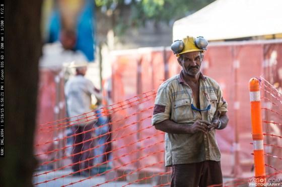 Hard Working Man in Medellin Colombia