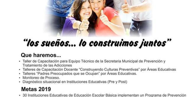 """´Construyendo Culturas Preventivas´ – en la ciudad de Yaguarón"""" Departamento de Paraguarí."""