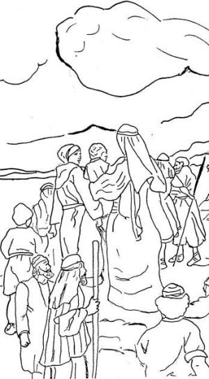Free pillar of fire coloring pages