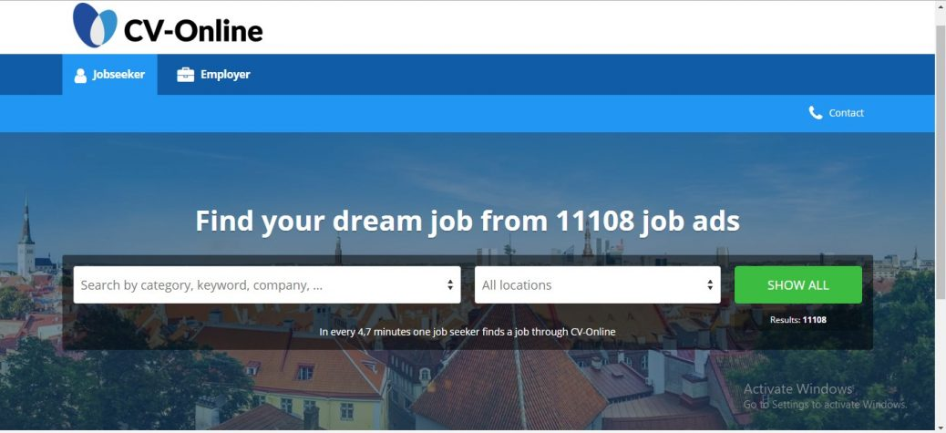 eu cv online jobs