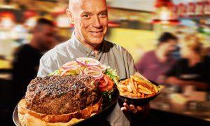 בלאק המבורגר ענקי
