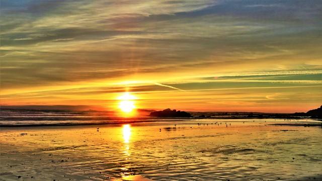 coucher de soleil à erdeven