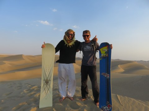 Iran désert varzaneh sandboard