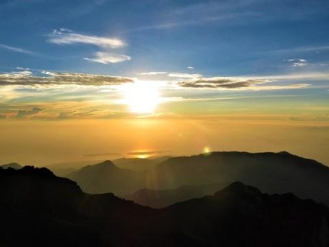 Lombok rinjani lever de soleil