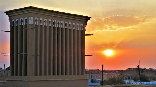 Iran Yazd Café Art House tour de vent soleil