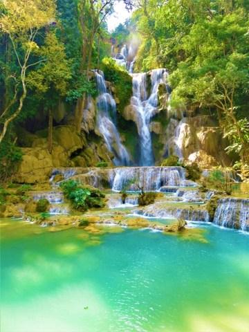 Laos Luang Prabang cascade Kuang Si