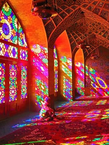 Iran Shiraz Mosquée Nasir-al-Molk vitraux