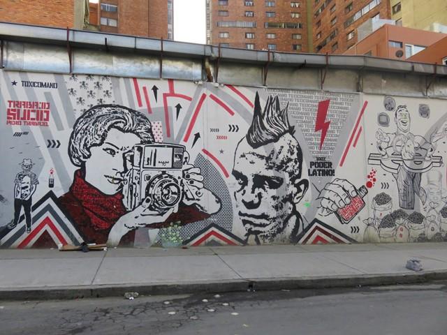 Colombie Bogota Street art