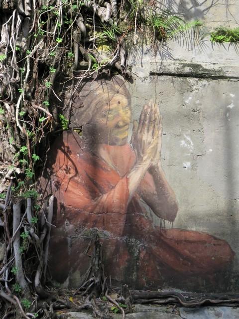 Malaisie George Town street art prière