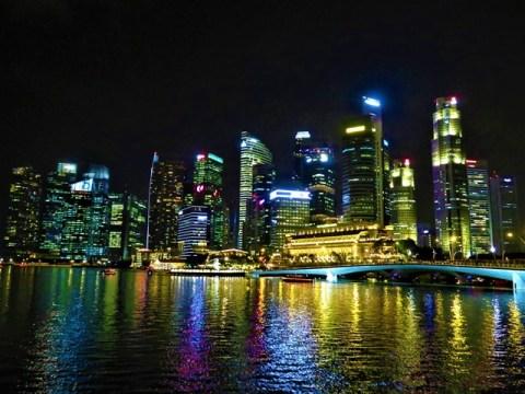 Singapour city center nuit