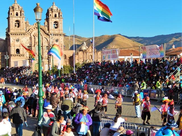 Pérou Cuzco Inti Raymi Plaza de Armas