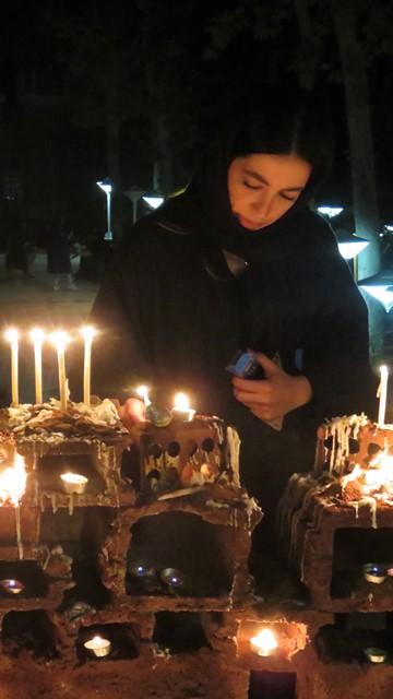 Iran Téhéran Achoura bougies