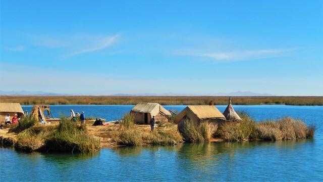 Pérou Lac Titicaca îles flottantes