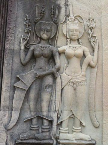 Cambodge Angkor War bas-reliefs