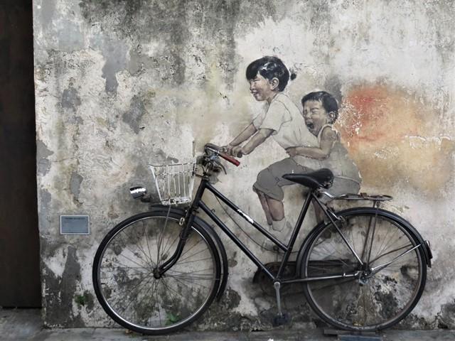 Malaisie George Town street art vélo