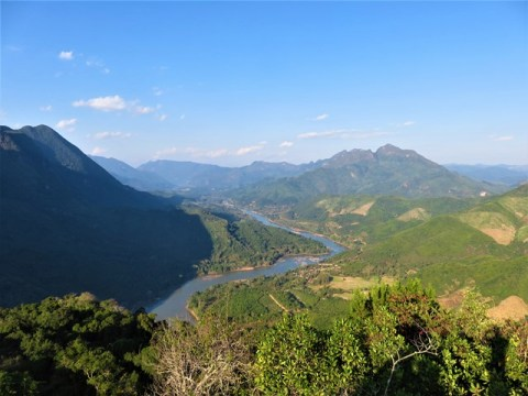 Laos Nong Khiaw viewpoint