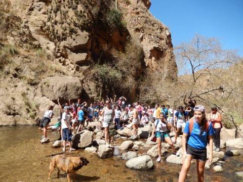 Argentine Cafayate randonnée canyon cascade