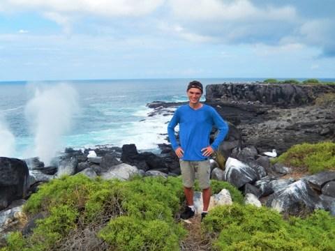 Galapagos ile Espanola trous souffleurs