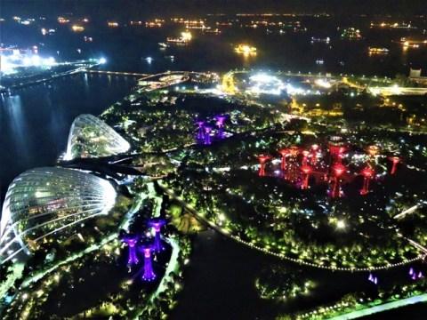 Singapour Marina Bay Sands panorama nuit