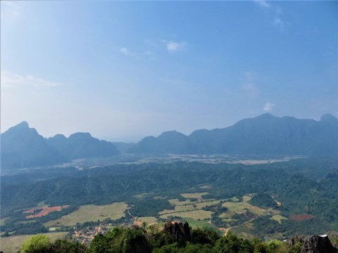 Laos Vang Vieng panorama viewpoint