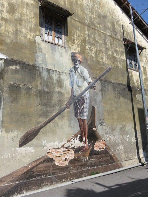 Malaisie George Town street art rame