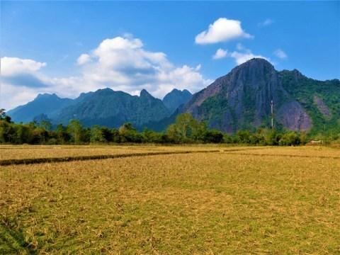 Laos Vang Vieng campagne falaises