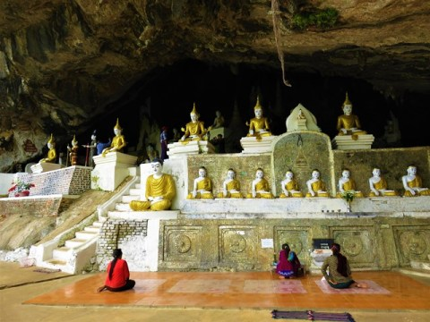 Myanmar Hpa-An grotte Yathei Pyan