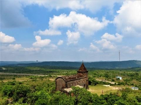 Cambodge Kampot Bokor église