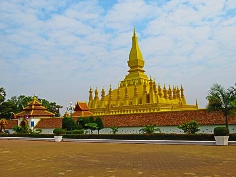 Laos Vientiane stûpa Pha That Luang